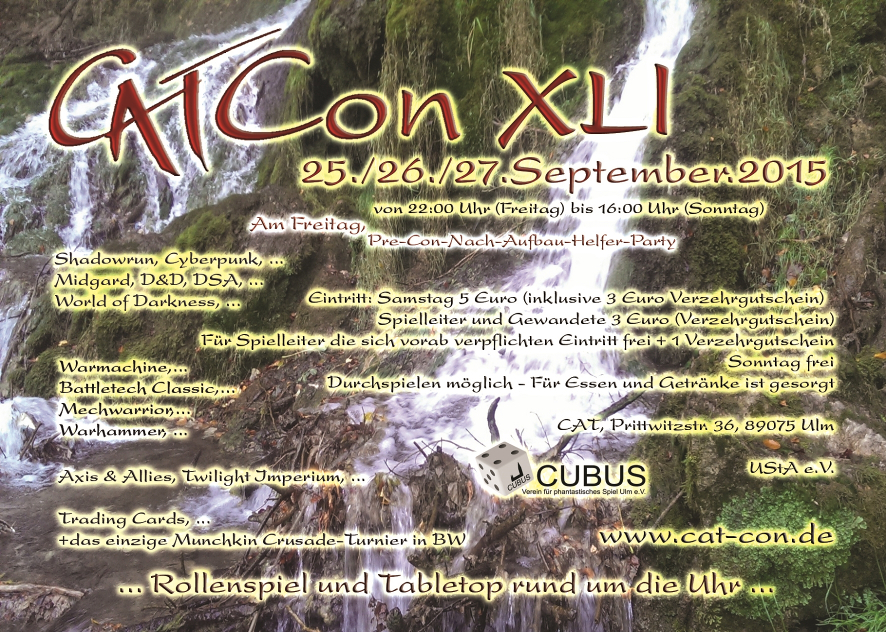 Flyer der CAT-Con XLI
